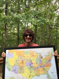 Gooding with a map of the United States